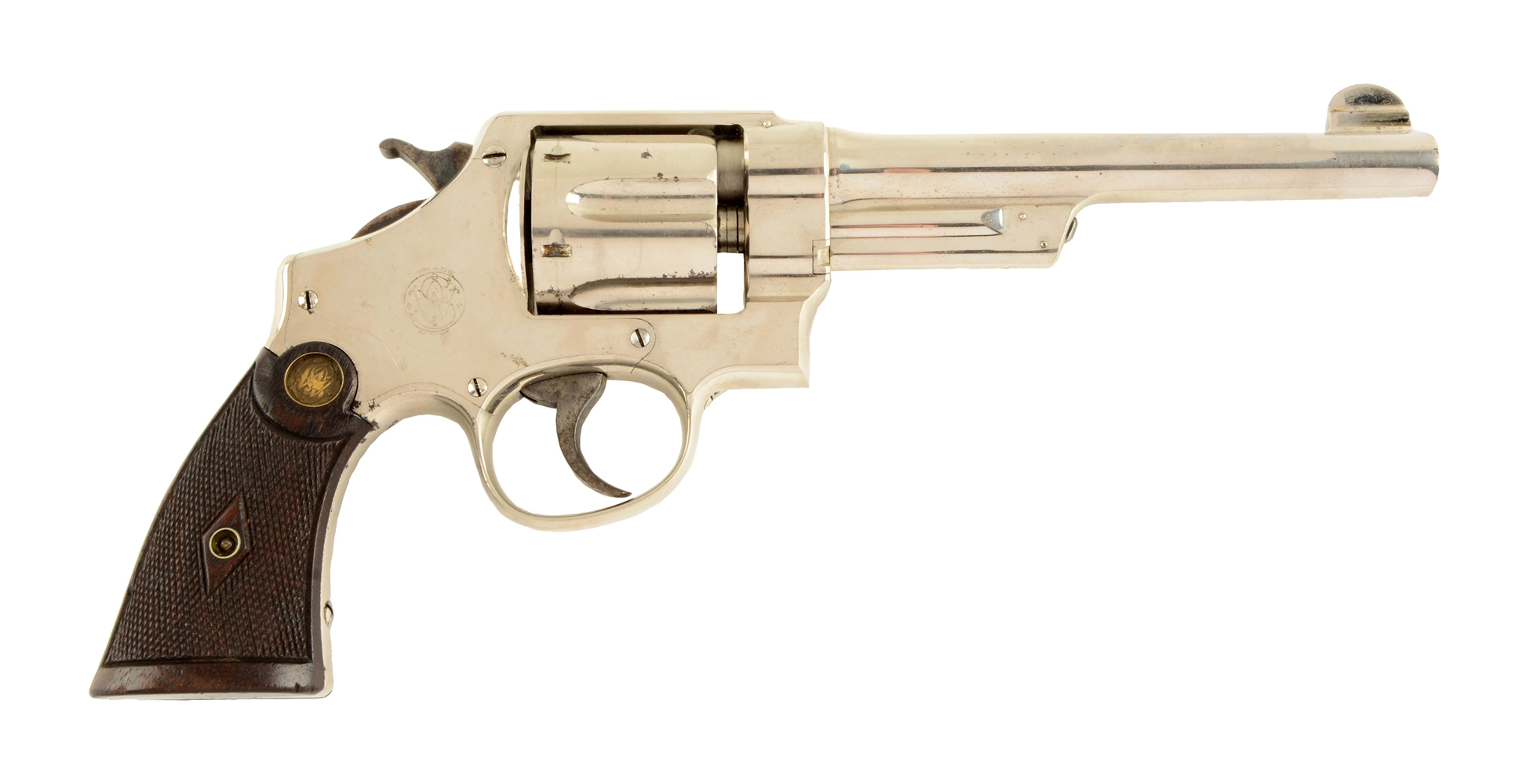 (C) Nickle S&W Triple Lock Revolver.