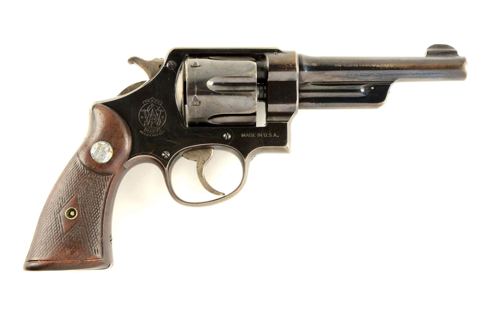 (C) Pre-War Smith and Wesson .38/44 Heavy Duty Revolver.