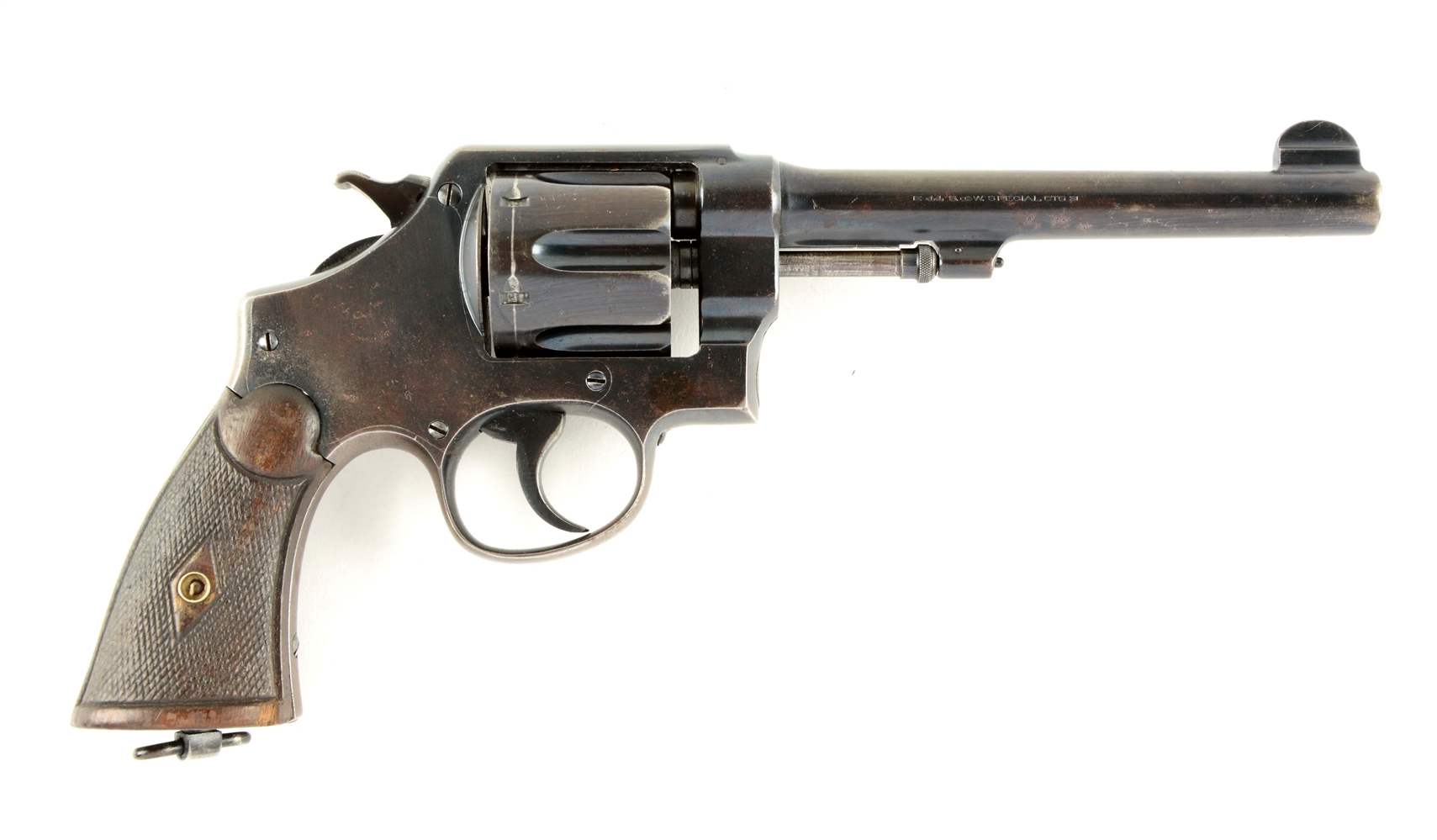 (C) Pre-War S&W 2nd Model .44 Hand Ejector Revolver.