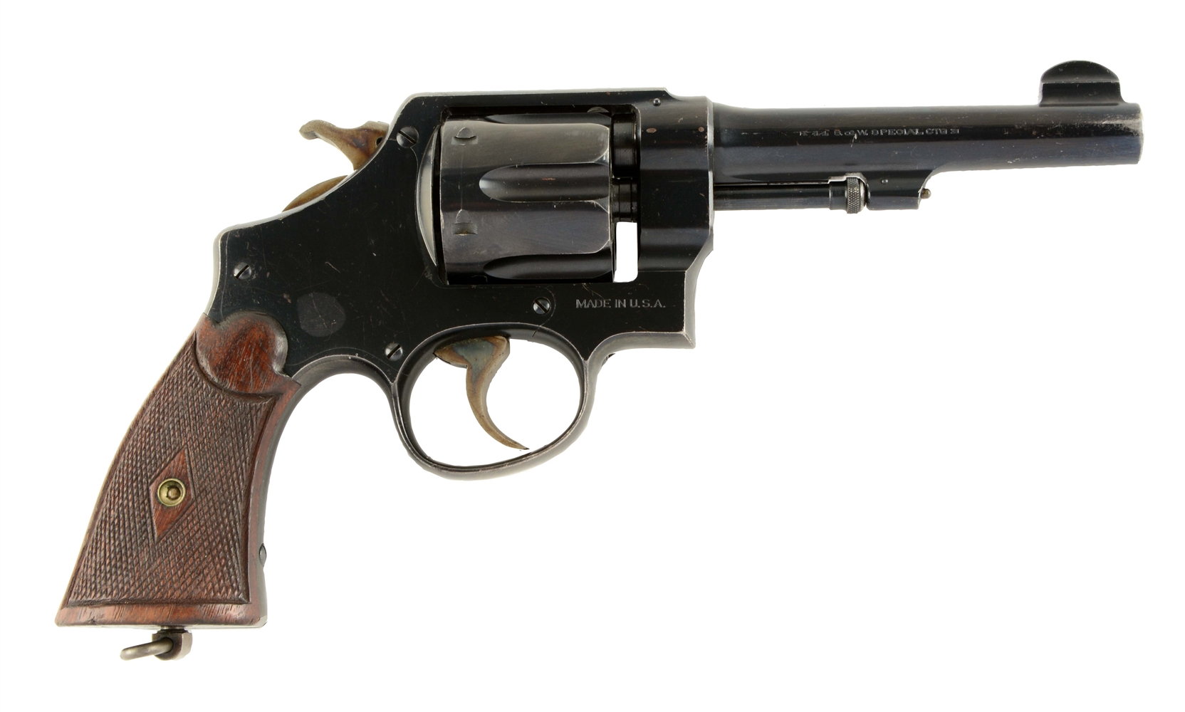"(C) Scarce 5"" S&W .44 Hand Ejector Second Model Revolver."