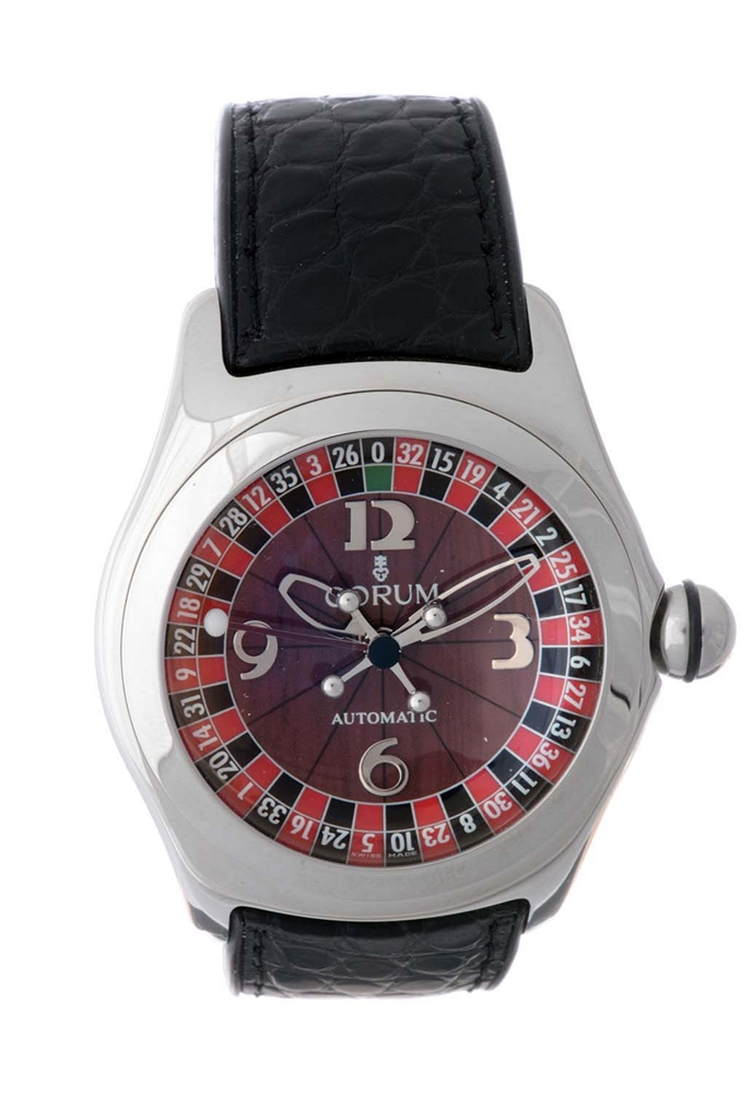 Corum Stainless Steel Casino Bubble Wristwatch Model Number 082.150.20.