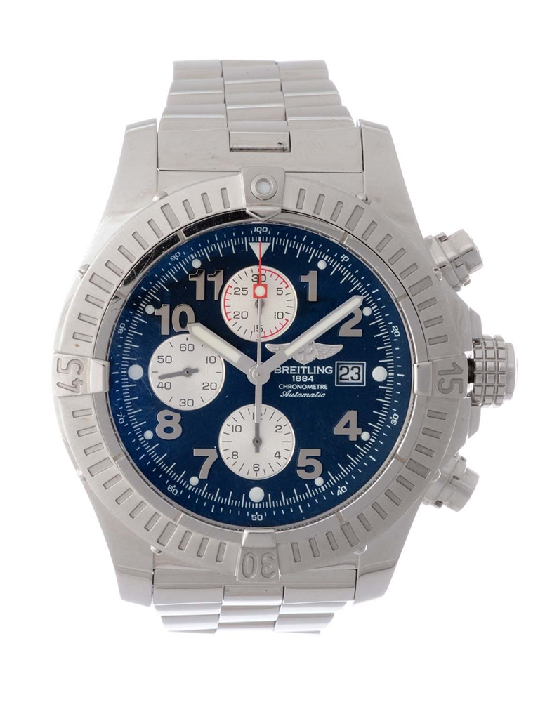 Breitling Stainless Steel Super Avenger II Wristwatch Model Number A13370.