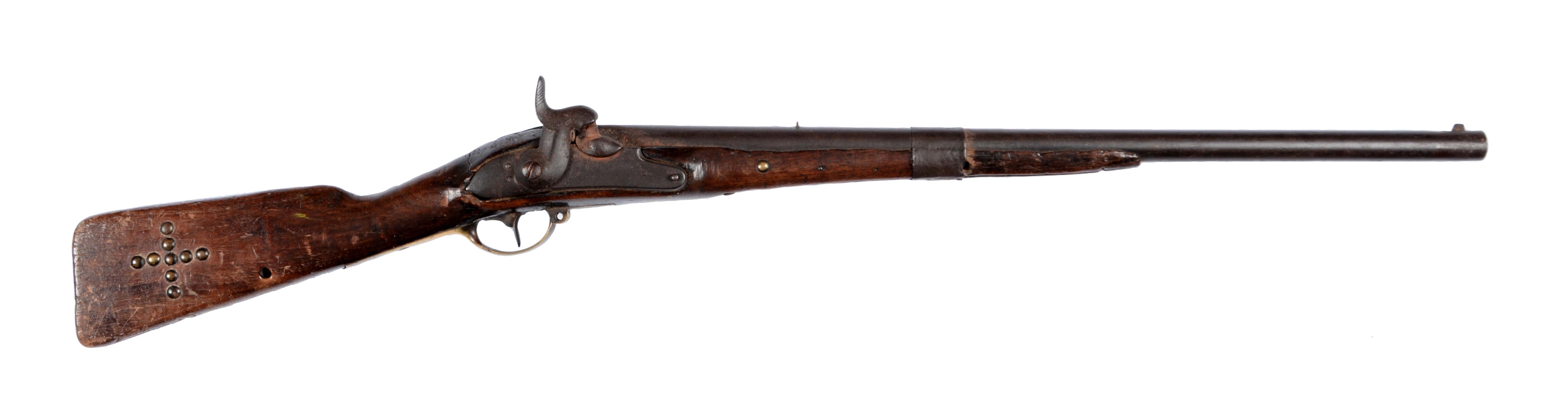 (A) Indian Tack Decorated Percussion Carbine.