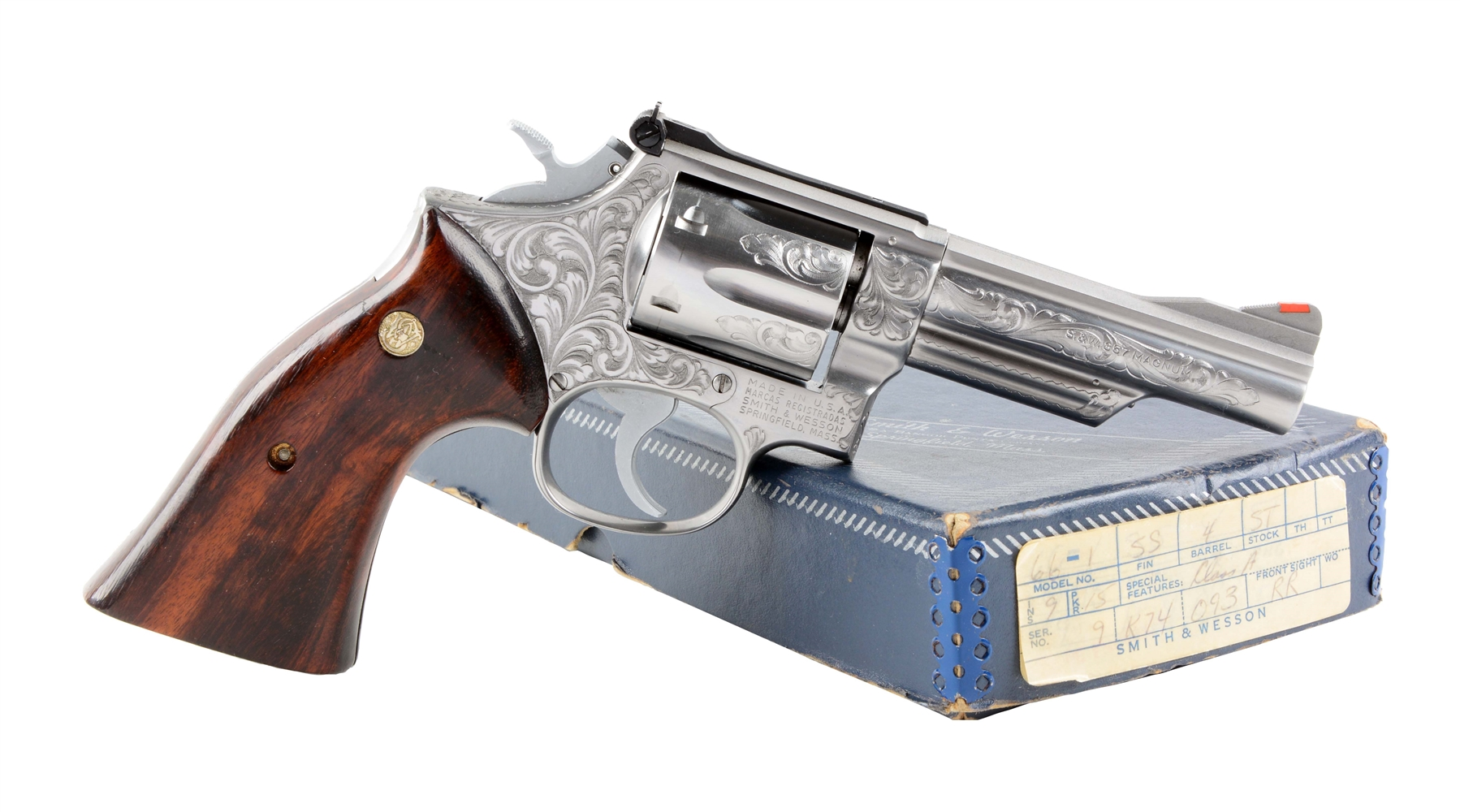 (M) Factory Engraved Smith and Wesson Model 66 Revolver.