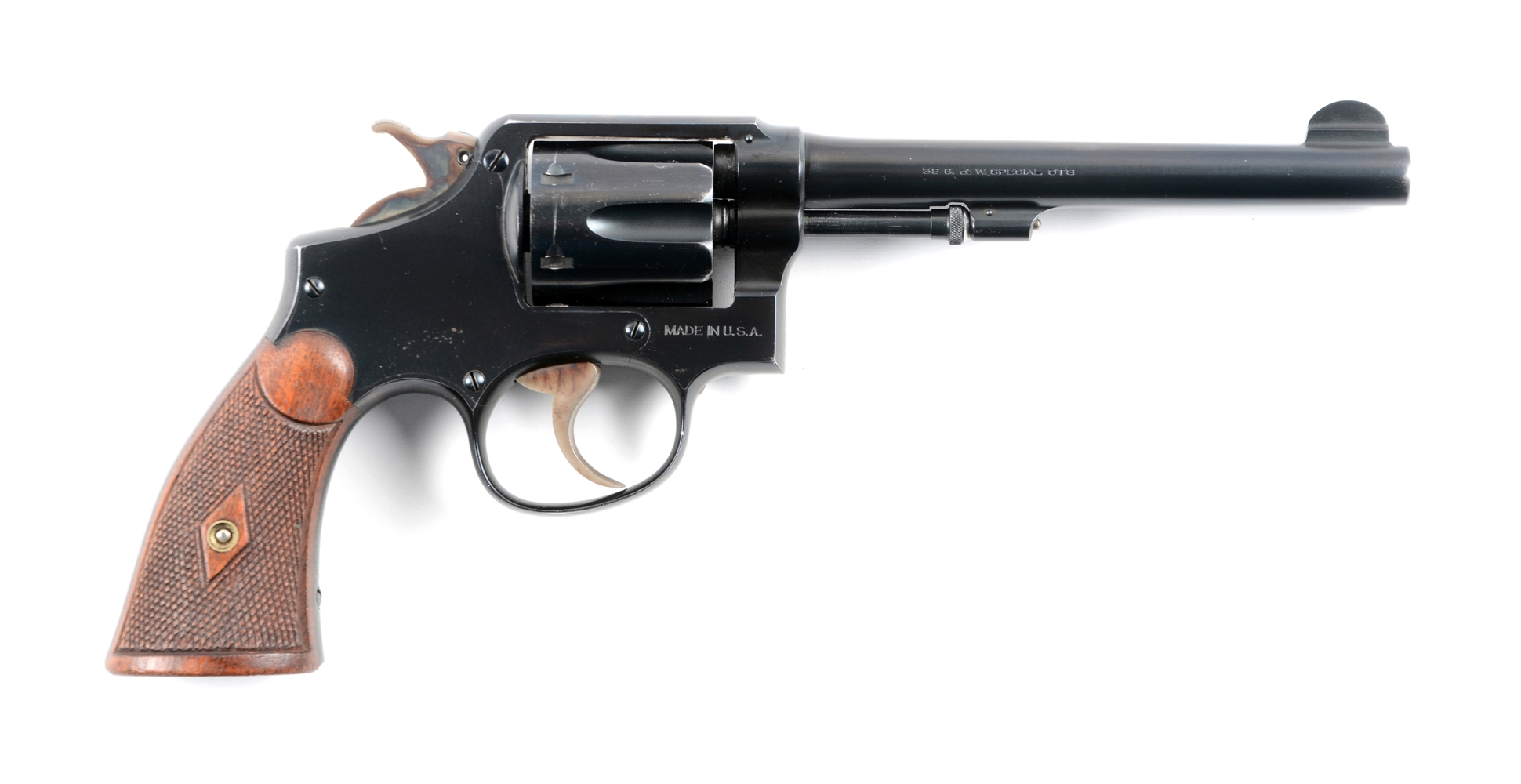 (C) Pre War Military and Police Smith and Wesson Revolver.