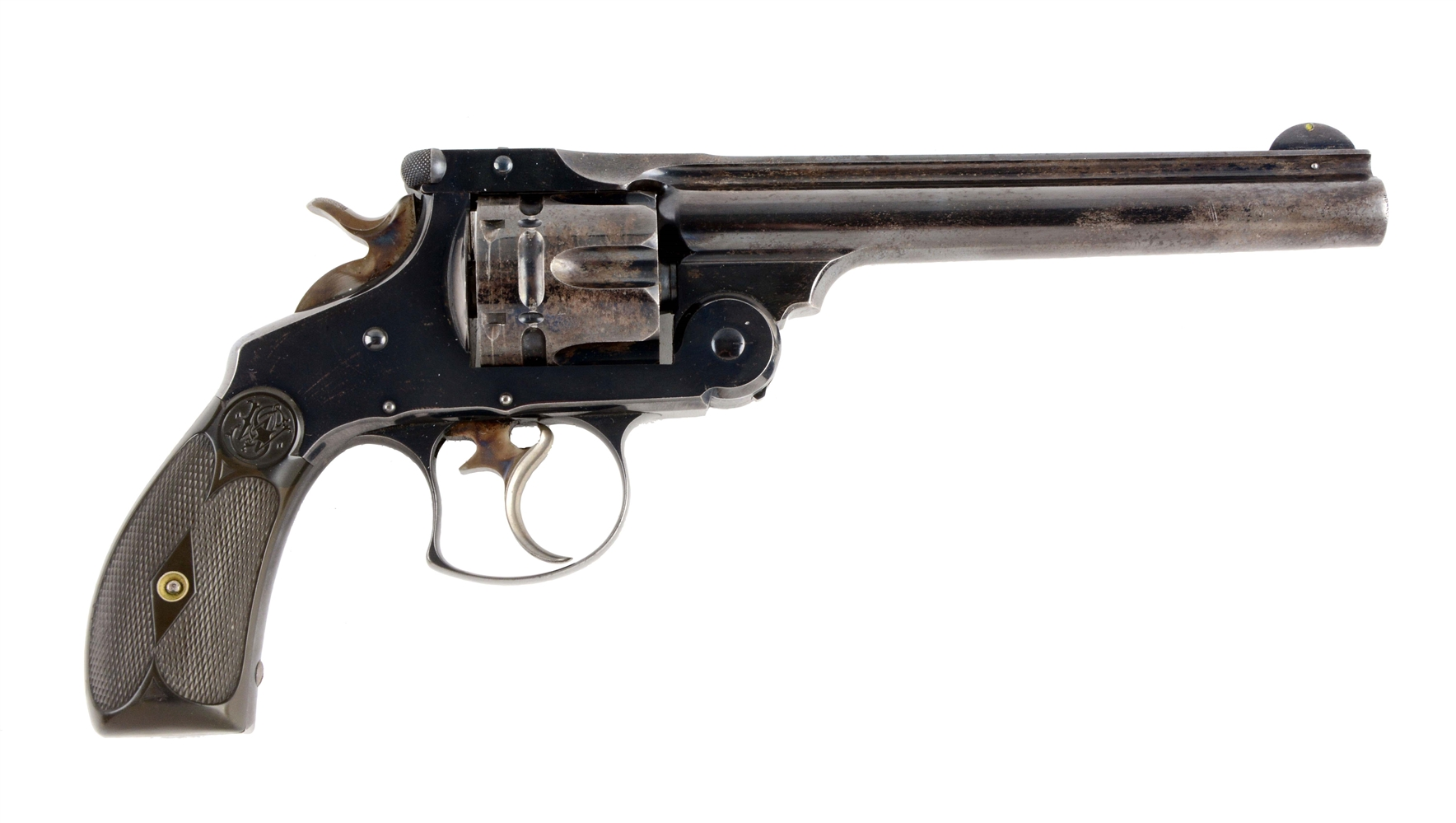(A) Rare Blued Smith & Wesson Number 3 Frontier Double Action Revolver