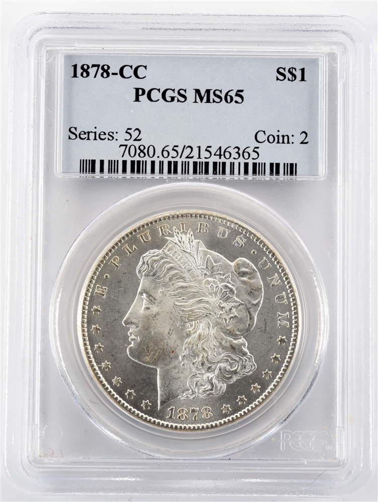 1878 CC CARSON CITY MORGAN SILVER DOLLAR.