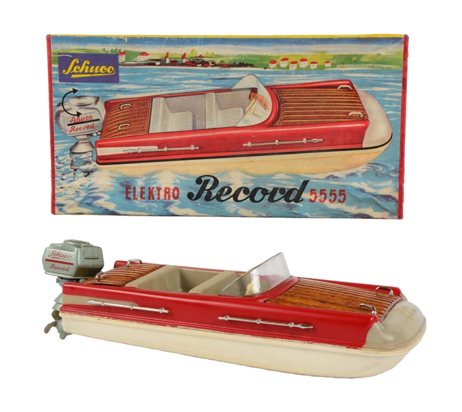 German Schuco Elekto Record 5555 Boat In Box.