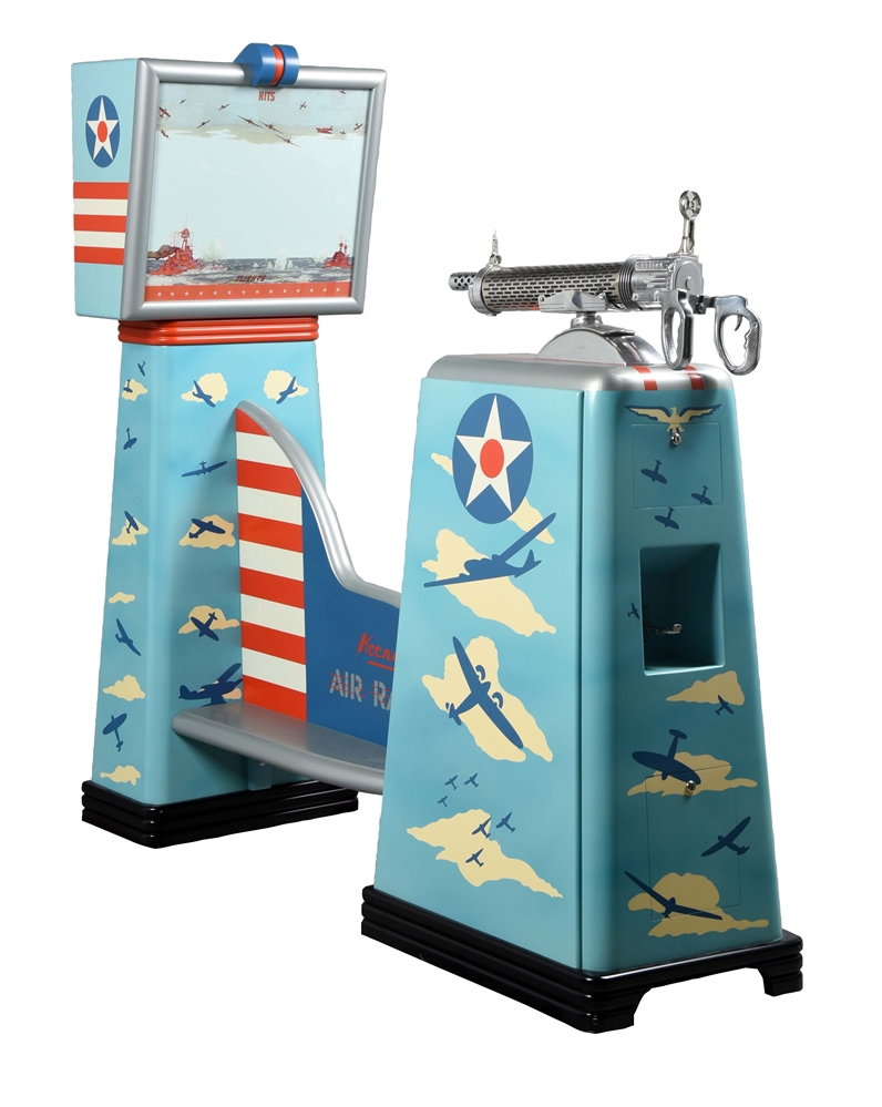5¢ Keeney Air Raider Projection Screen Shooting Game.
