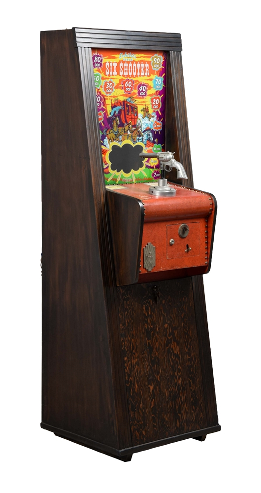 10¢ Exhibit Supply Co. Dale Six Shooter Arcade Game.