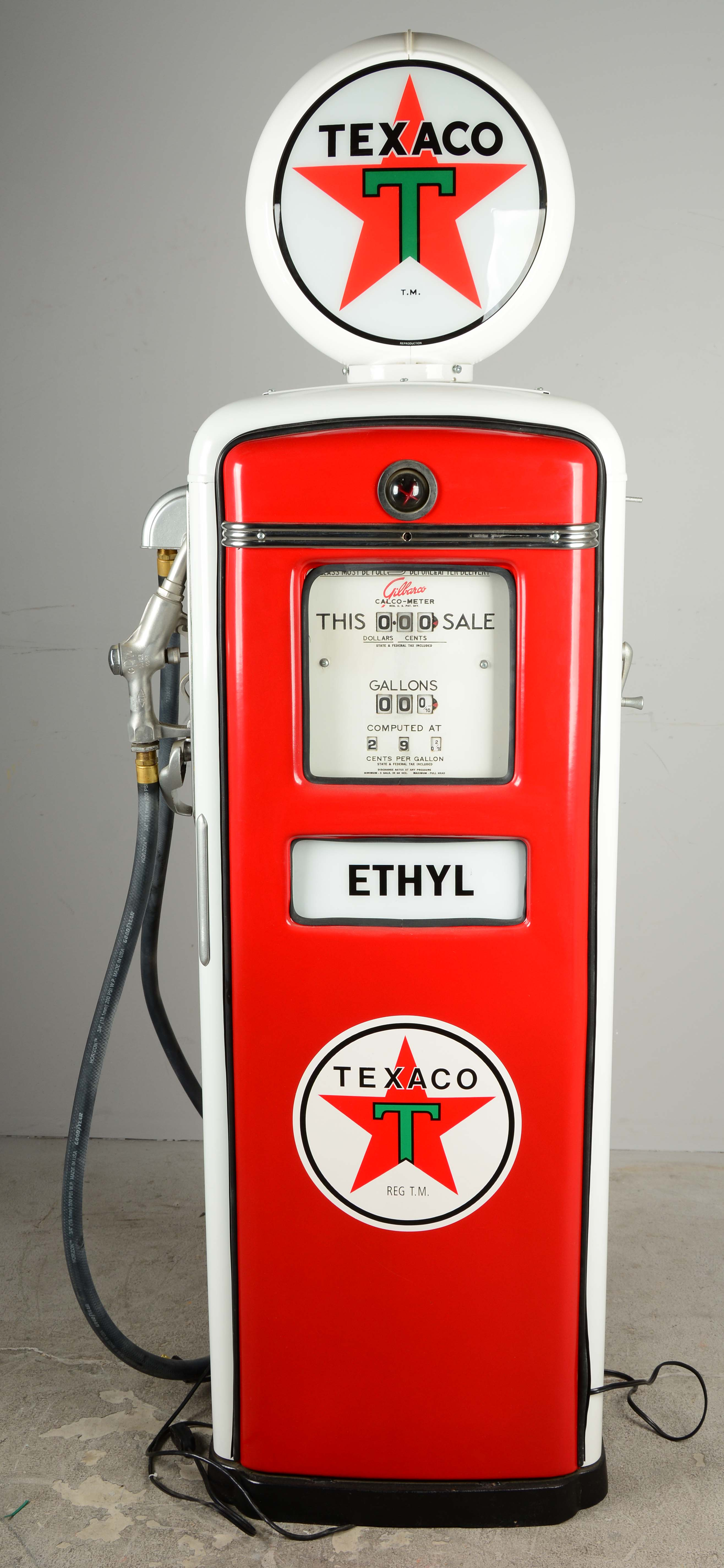 Gas Pumps For Sale >> Lot Detail - Restored 1953 Texaco Gilbarco Gas Pump.