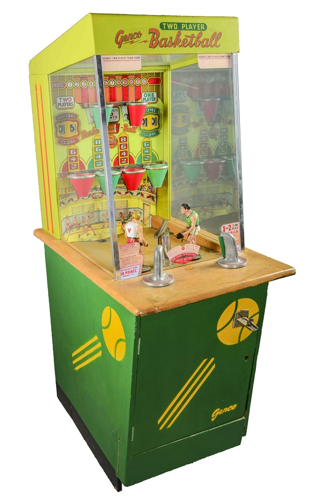 10¢ Genco Two-Player Super Basketball.