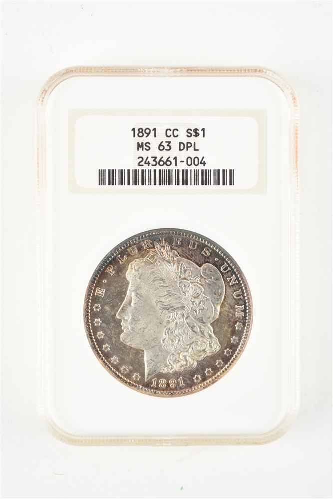 1891 CC CARSON CITY MORGAN SILVER DOLLAR.