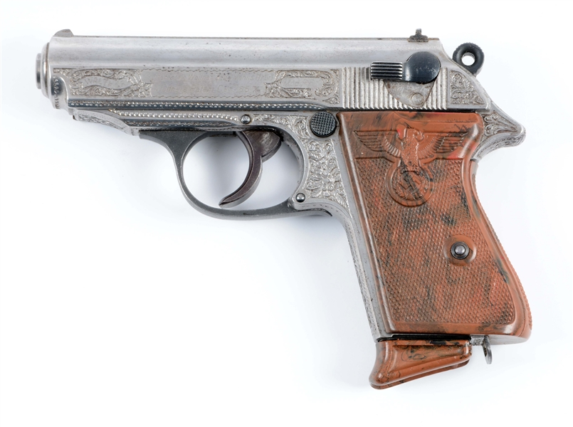 Lot Detail - (C) Engraved Walther PPK Semi-Automatic Pistol with