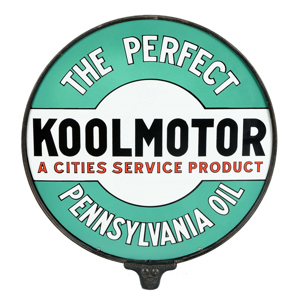 Cities Service Koolmotor Porcelain Sign.