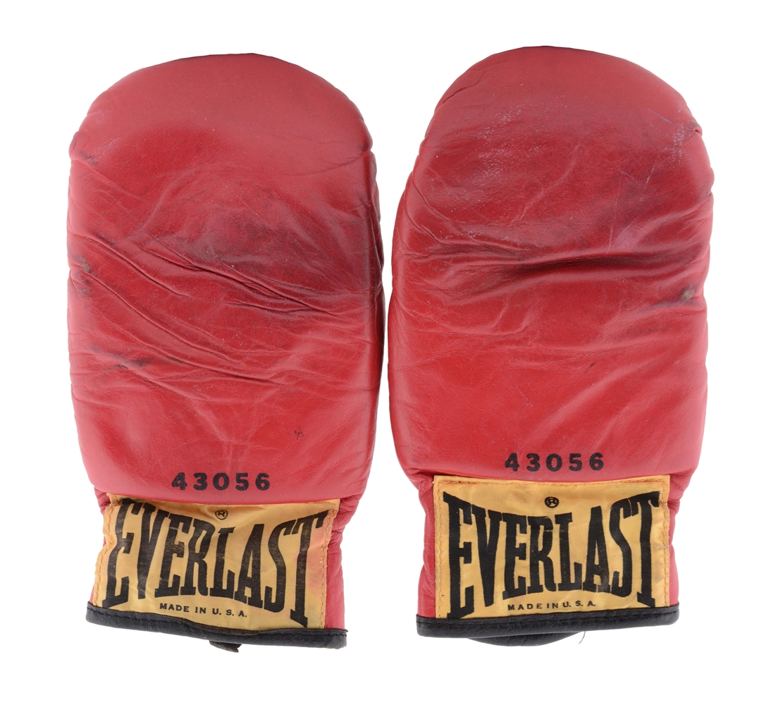 1970s Muhammad Ali Training Bag Gloves.