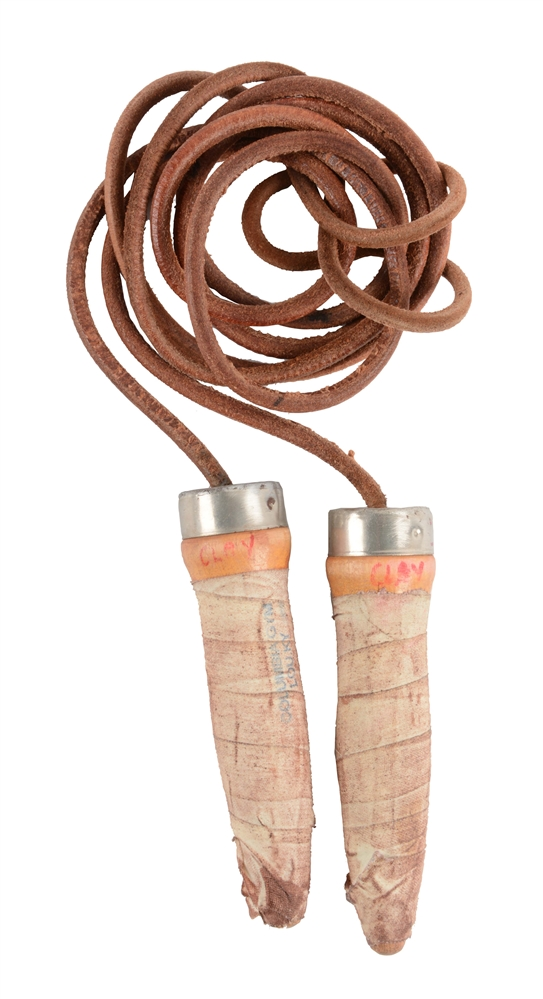 Cassius Clay Columbia Gym Used Jump Rope.
