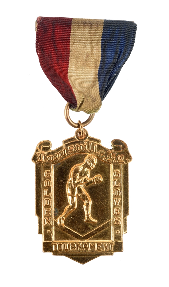 1958 Cassius Clay Louisville Golden Gloves Chammpionship Medal.
