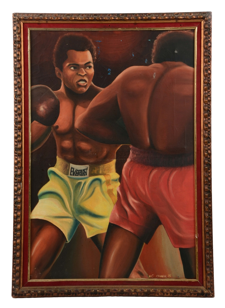 1975 Muhammad Ali Oil Painting.