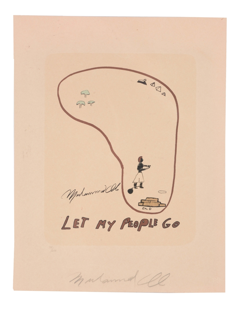 """Let My People Go"" Muhammad Ali Signed Print."