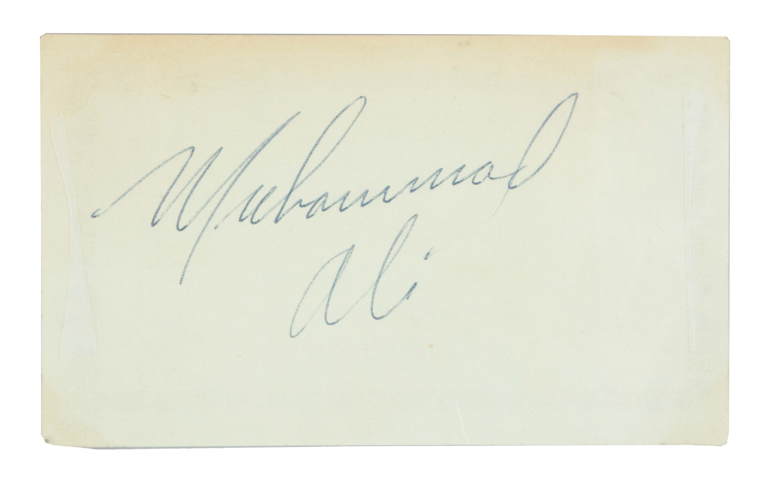 The Earliest Known Muhammad Ali Signature.