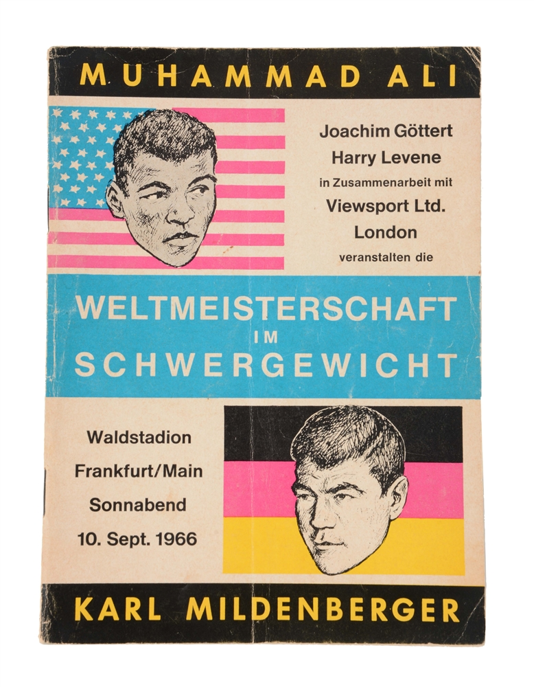 Scarce 1966 Muhammad Ali vs Karl Mildenberger Fight Program.