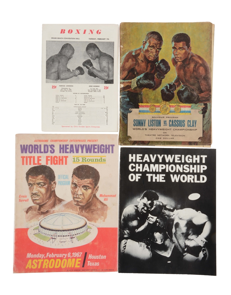Lot of 15: Boxing Program Collection with Muhammad Ali Championship Fights.