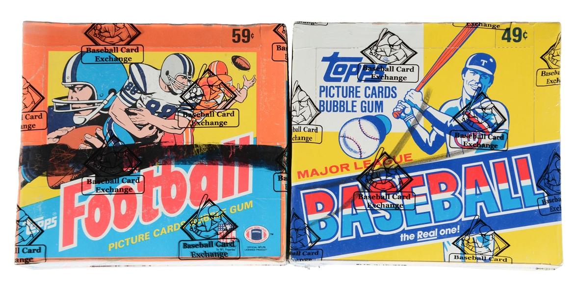 Lot Detail Lot Of 2 1983 Topps Baseball 1985 Topps Football