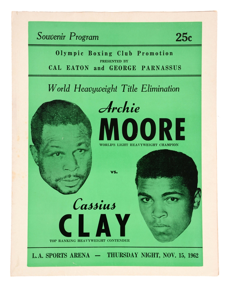 Archie Moore vs Cassius Clay Nov. 15, 1962.