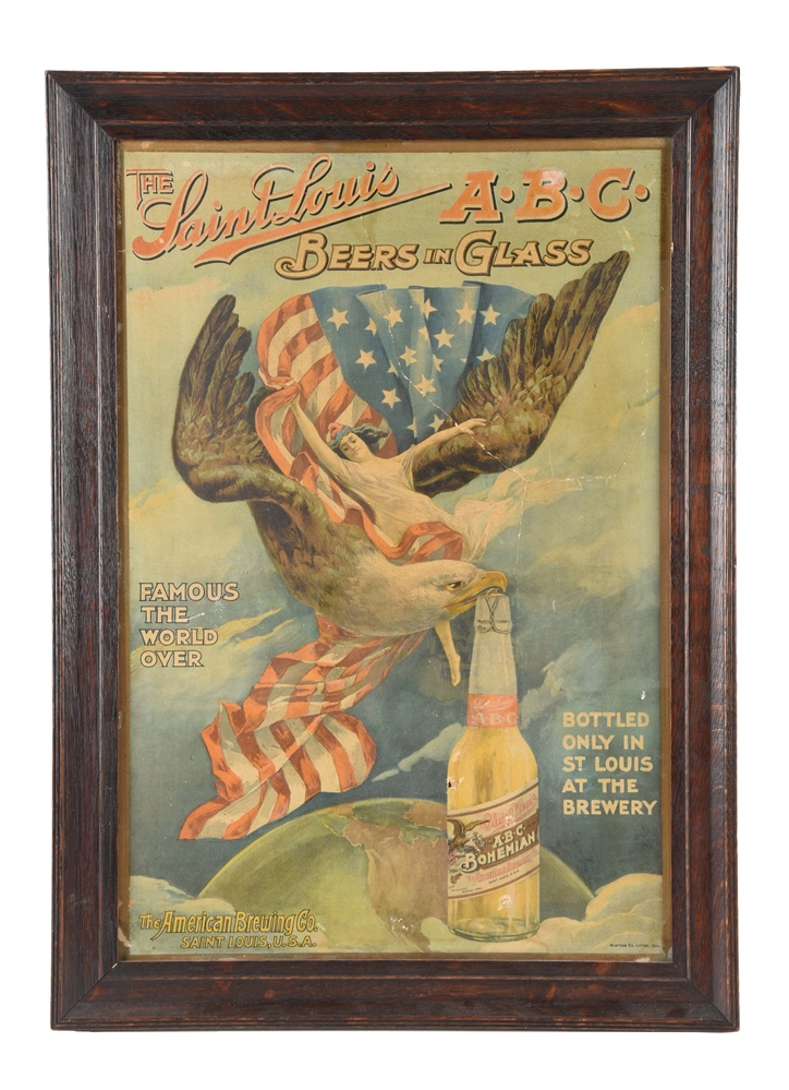 A.B.C. Bohemian Beer Advertising Sign.