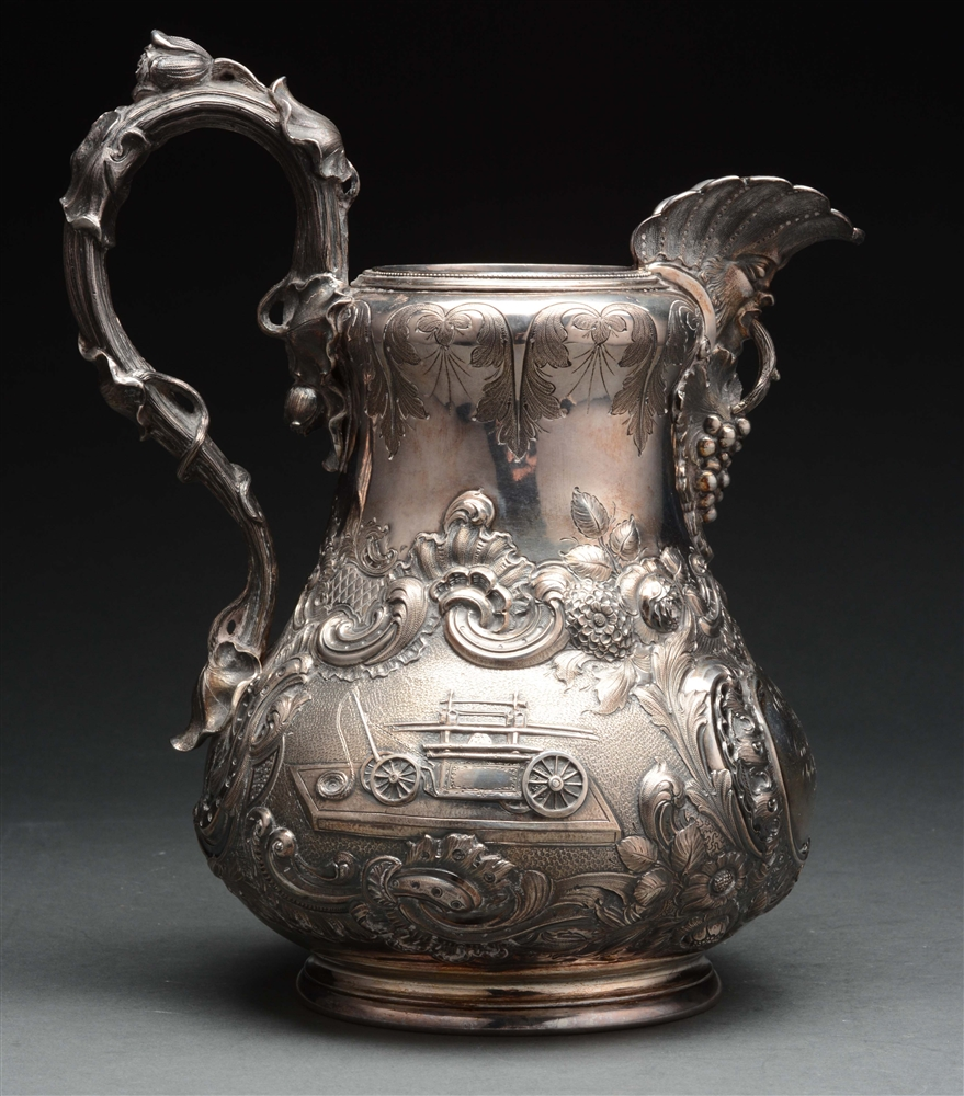 American Silver Water Pitcher.