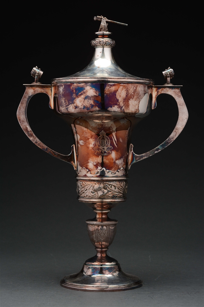 English Silver Trophy Vase.