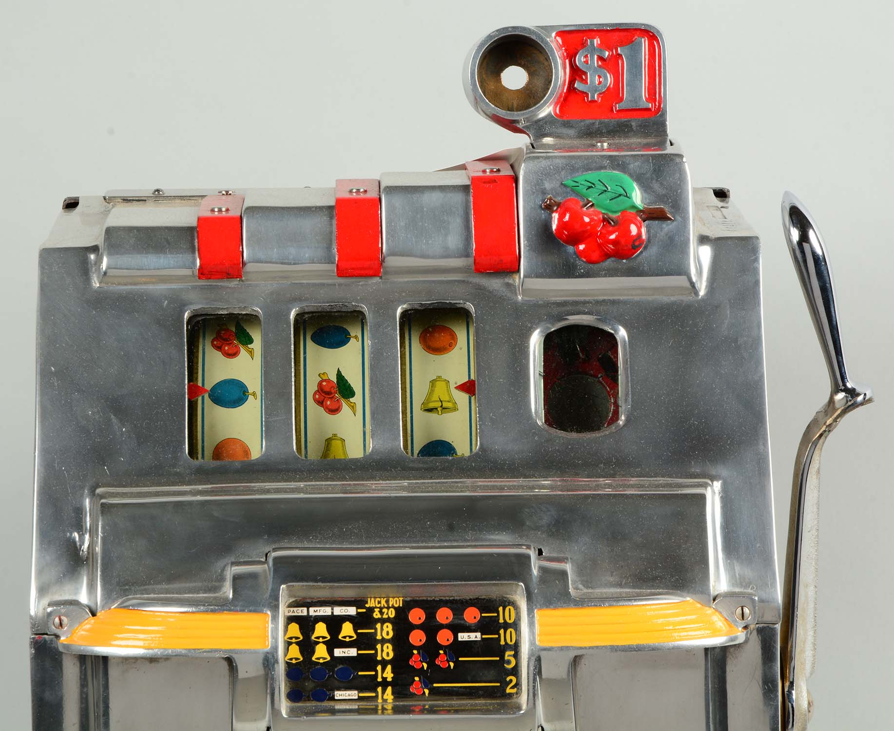 Lot Detail 1 Pace De Luxe Cherry Bell Slot Machine