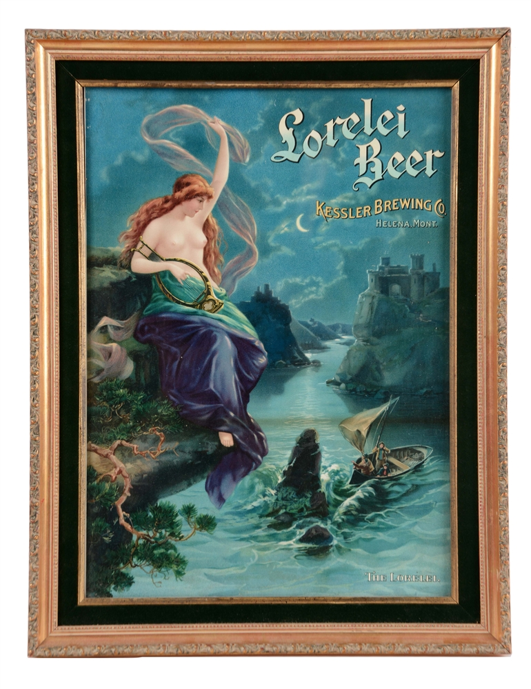 Lorelei Beer Advertising Sign From Helena, Montana.