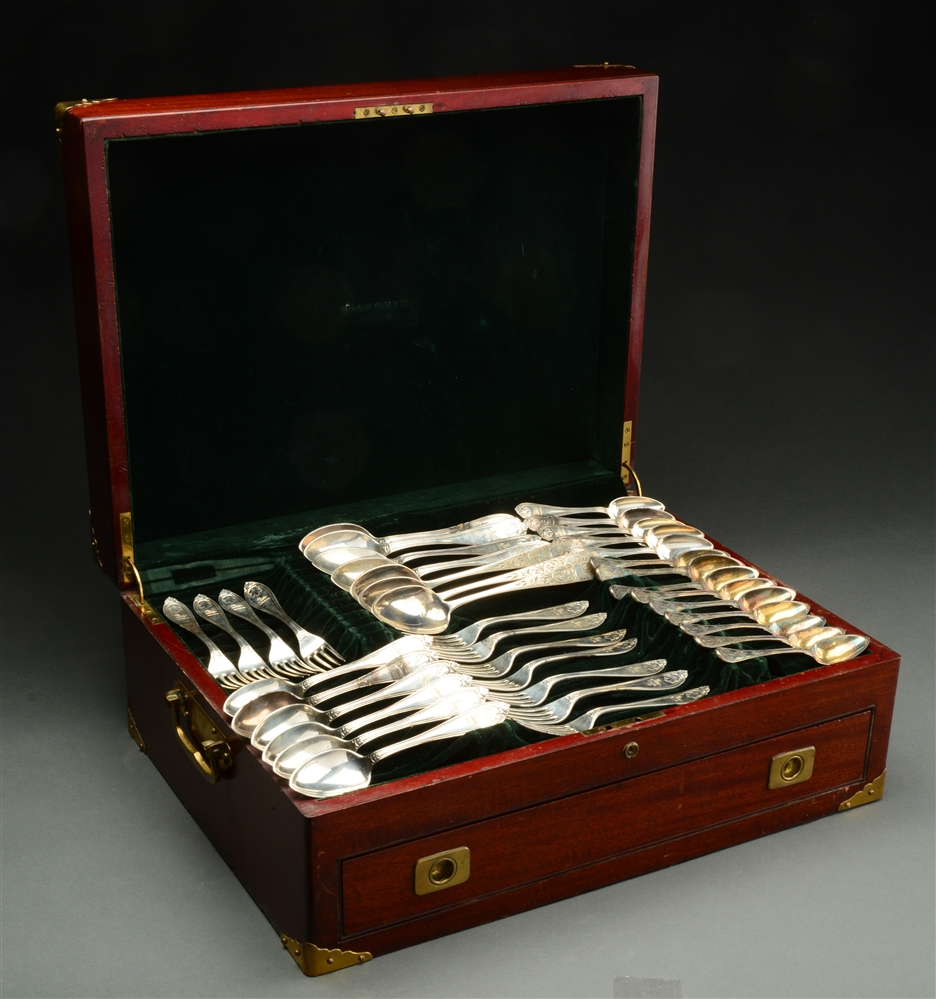 Part Set of American Sterling Flatware In Wooden Box.