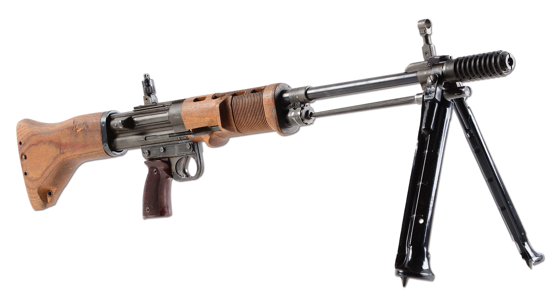 (N) ABSOLUTELY FABULOUS INCREDIBLY SOUGHT AFTER GERMAN FG-42 2ND MODEL MACHINE GUN (FULLY TRANSFERABLE).