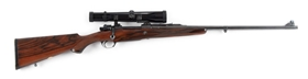 (C) HOLLAND & HOLLAND MAUSER .375 MAGNUM BOLT ACTION TAKEDOWN RIFLE WITH ZEISS SCOPE (1946).