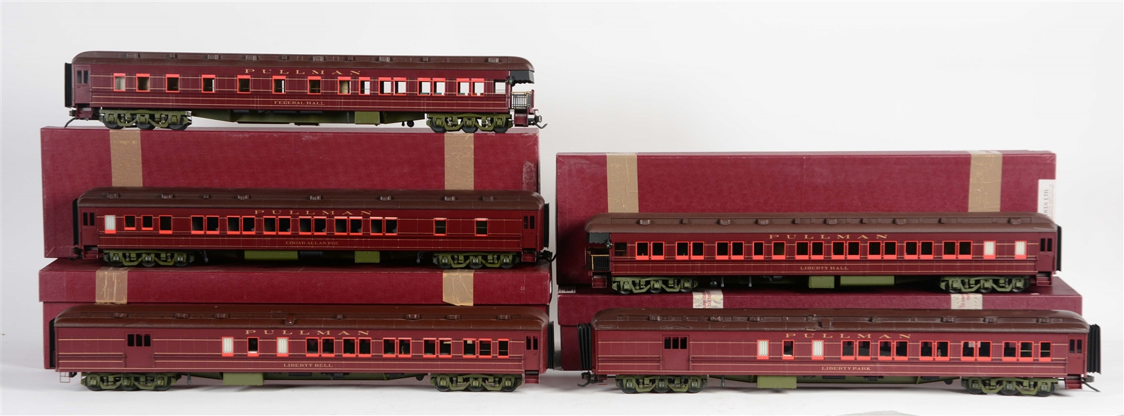 Lot Of 5: JM Models America Passenger Cars In Four Boxes.