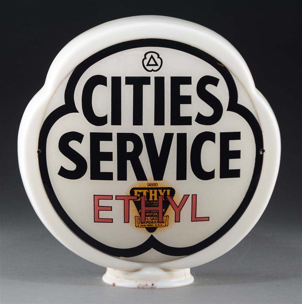 Cities Service Ethyl Complete Gas Globe.