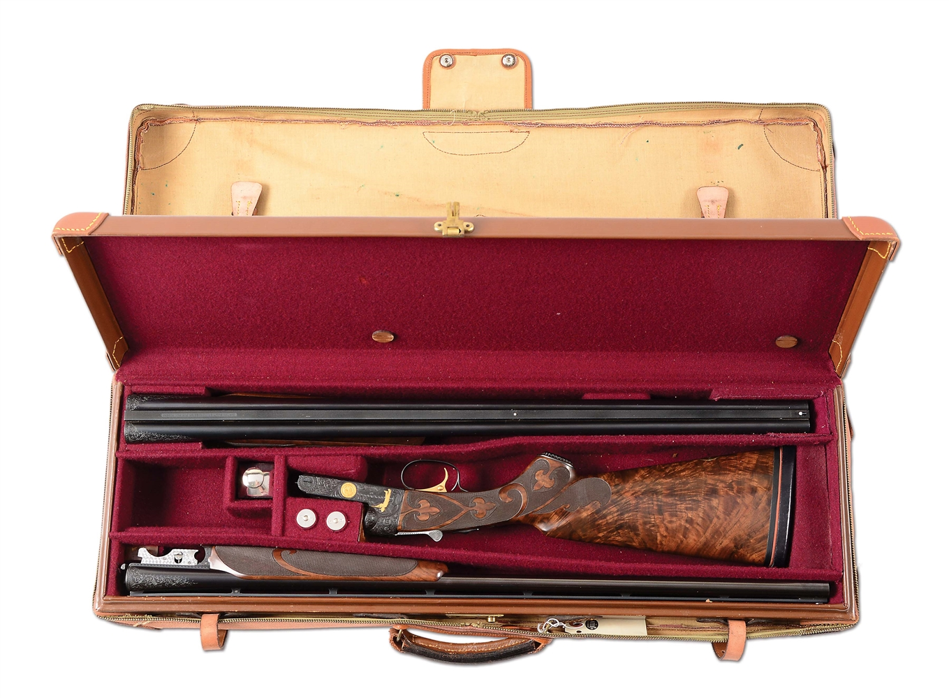 (C) MATE TO ROY ROGERS 12 BORE, A 20 BORE CUSTOM WINCHESTER GRAND AMERICAN MADE FOR DALE EVANS WITH EXTRA BARRELS & CASE.