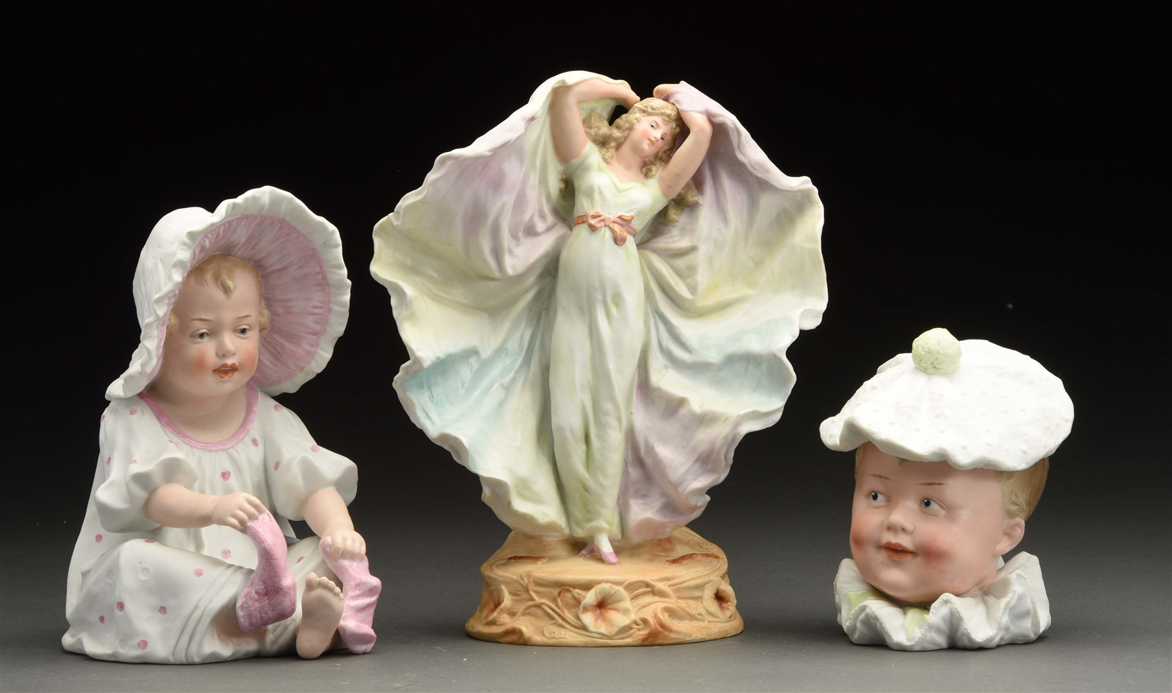 Lot of 3: Very Nice Heubach Figures.
