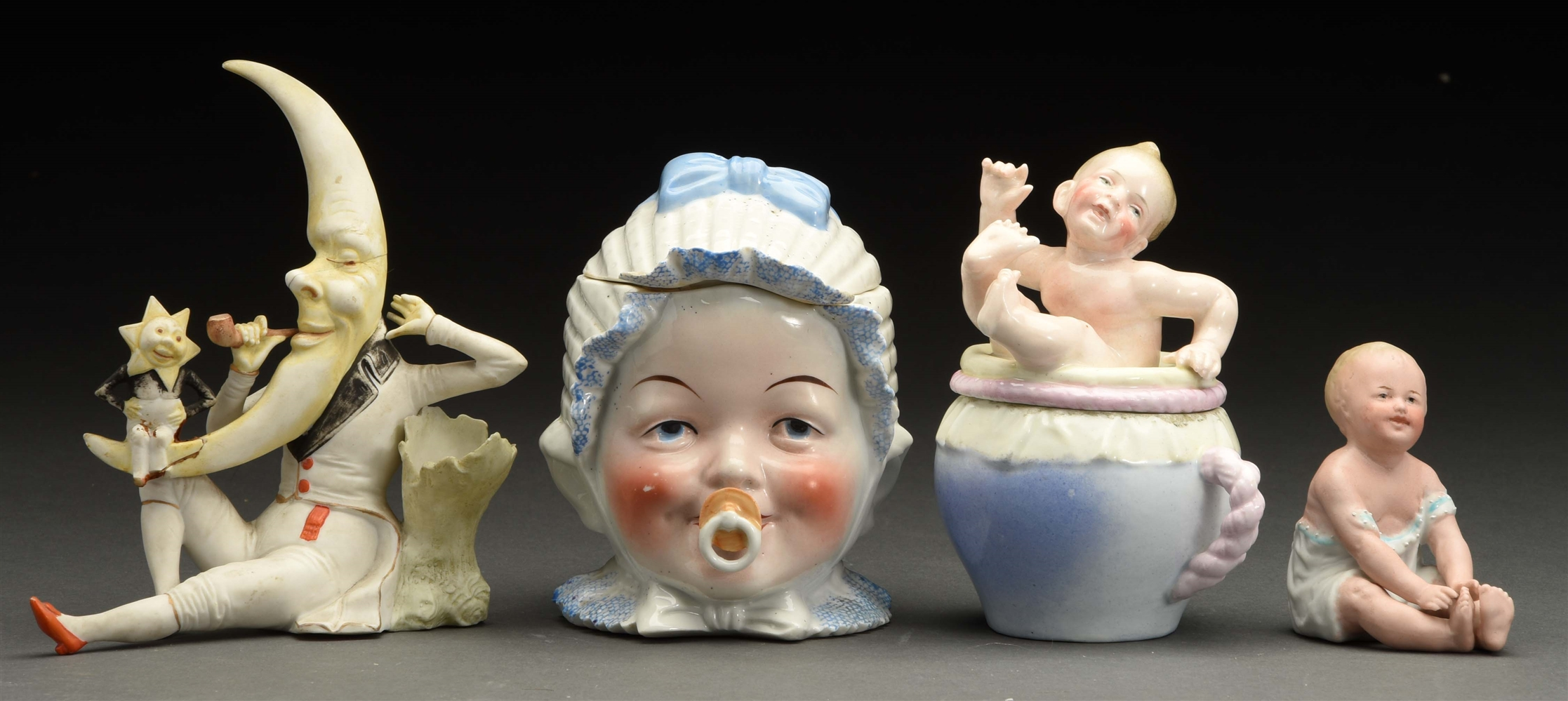 Lot of 4: Bisque & Porcelain Figures.