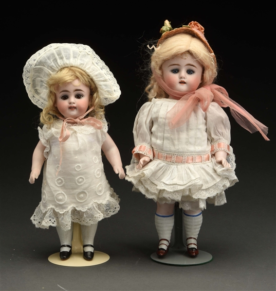 Lot of 2: Kestner All Bisque Dolls.