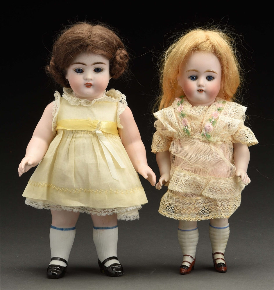 Lot of 2: All Bisque Dolls.