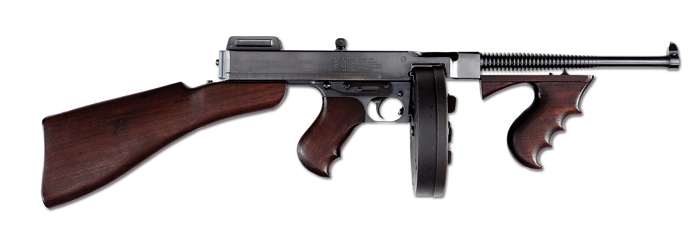 (N) Outstanding Condition 1 of 2 Consecutively Numbered Colt 1921A Thompson Machine Gun (Curio & Relic).