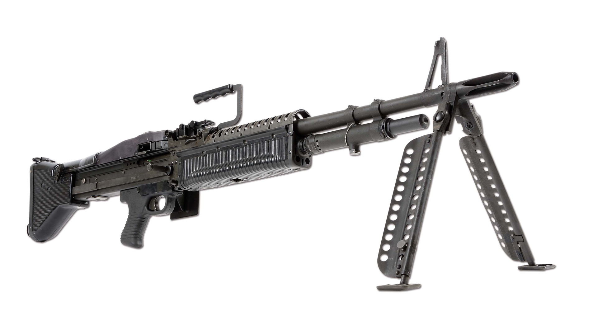 (N) MINTY & HIGHLY SOUGHT AFTER MAREMONT M60 MACHINE GUN WITH EXTRAS (FULLY TRANSFERABLE).
