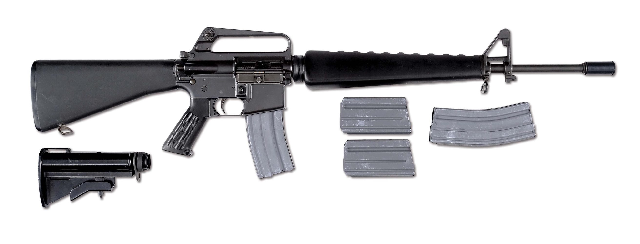 (N) OUTSTANDING CONDITION COLT M16A1 MACHINE GUN AS MADE FOR THE COMMERCIAL MARKET (FULLY TRANSFERABLE).
