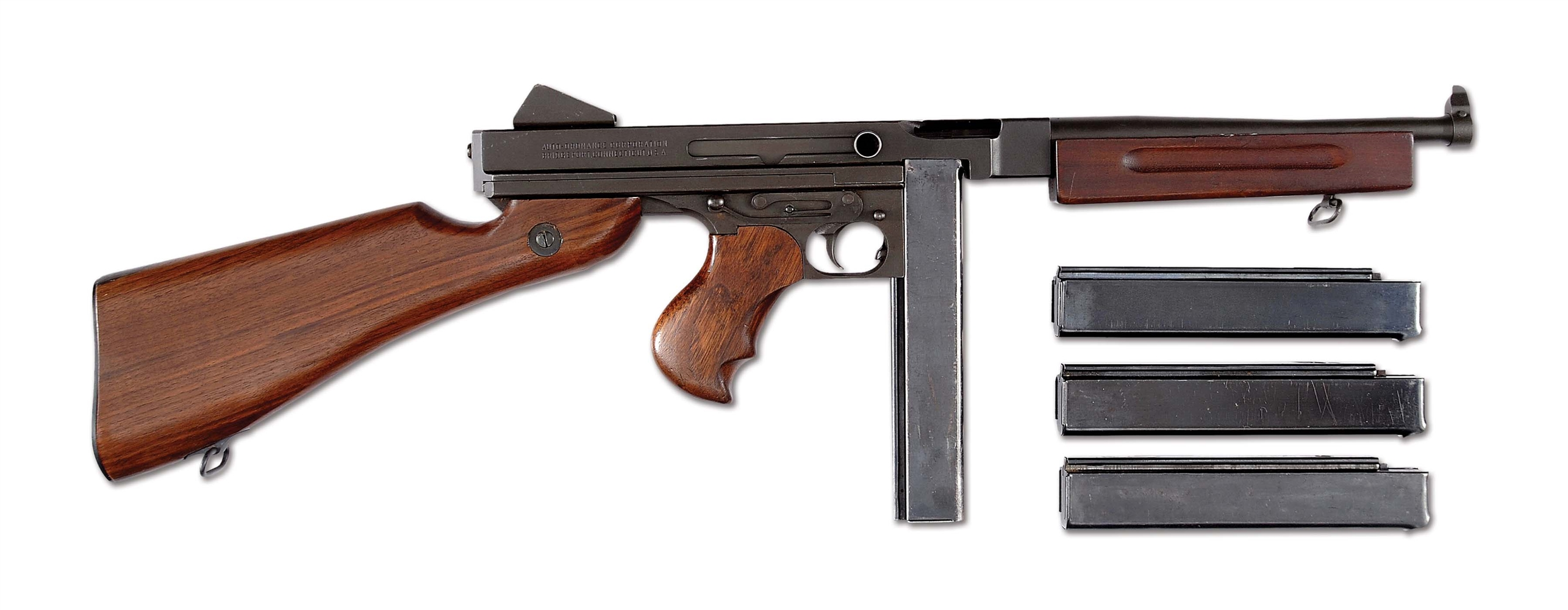 "(N) Outstanding Condition Auto-Ordnance Bridgeport ""US PROPERTY"" M1A1 Thompson Machine Gun (Curio & Relic)."