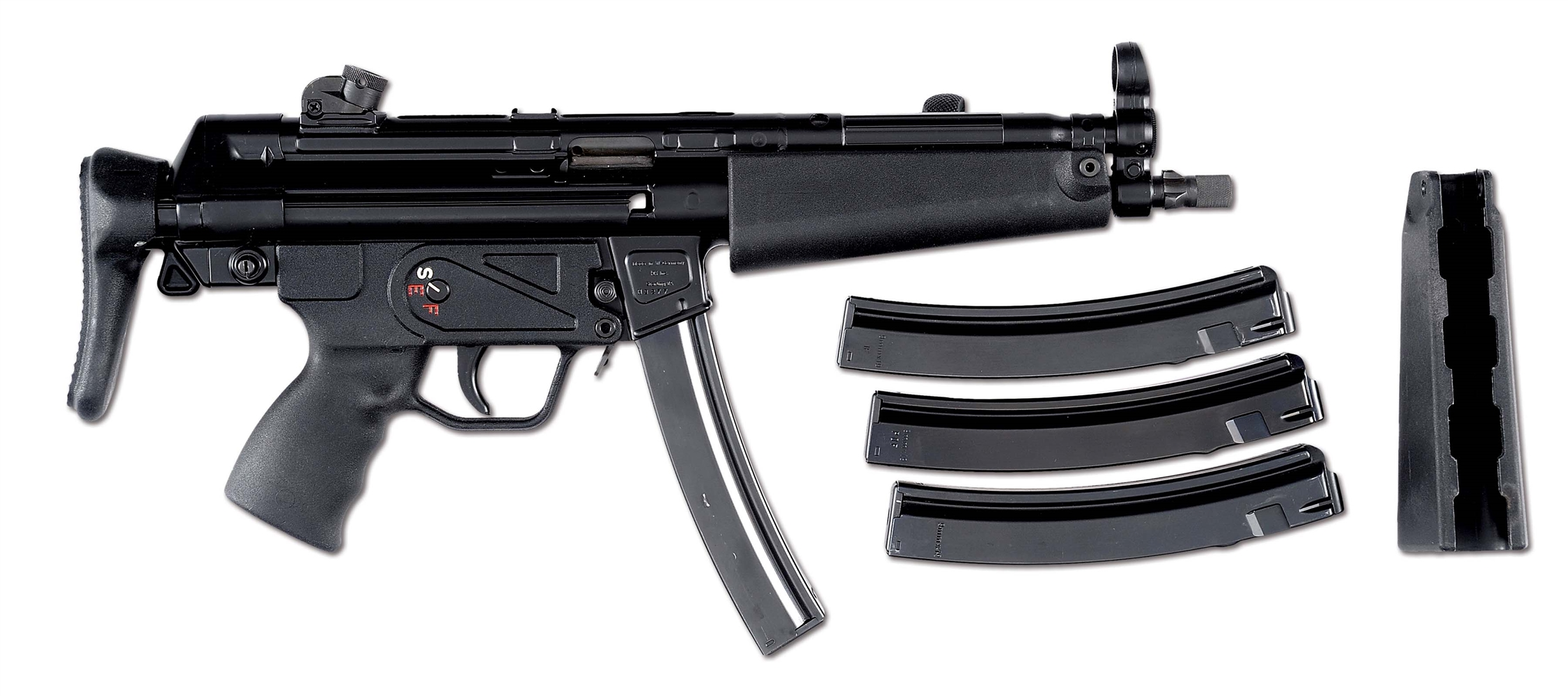 (N) EVER POPULAR FLEMING REGISTERED H&K 3 POSITION AUTO-SEAR PACK IN MULTIPLE CALIBERS ON H&K MP5 HOST GUN (FULLY TRANSFERRABLE).