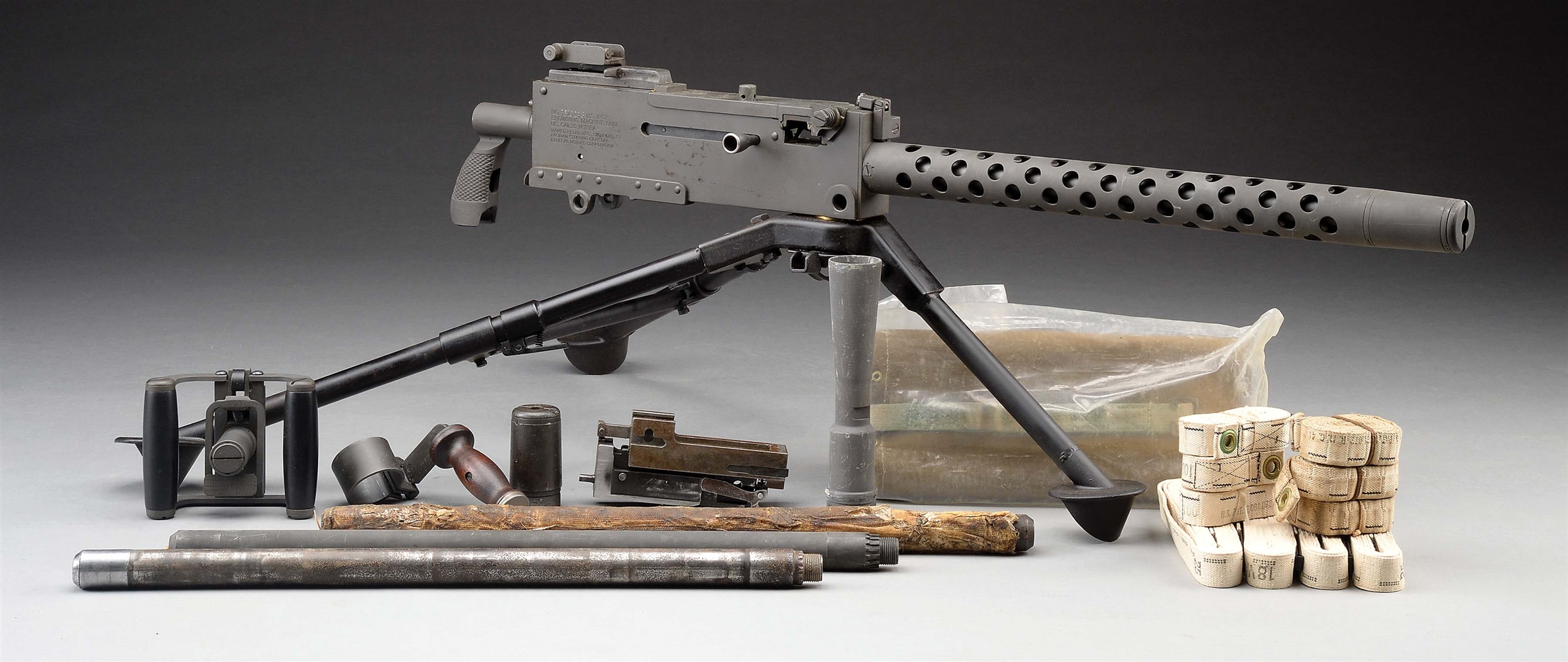(N) High Condition DLO Registered Sideplate Browning 1919 A4 Machine Gun with Tripod and Numerous Extras (Fully Transferable).